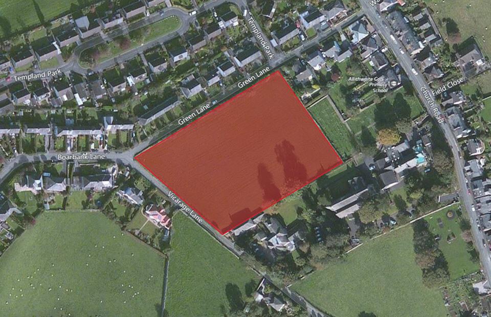 A public presentation for the land adjacent to Vicarage Lane at Allithwaite