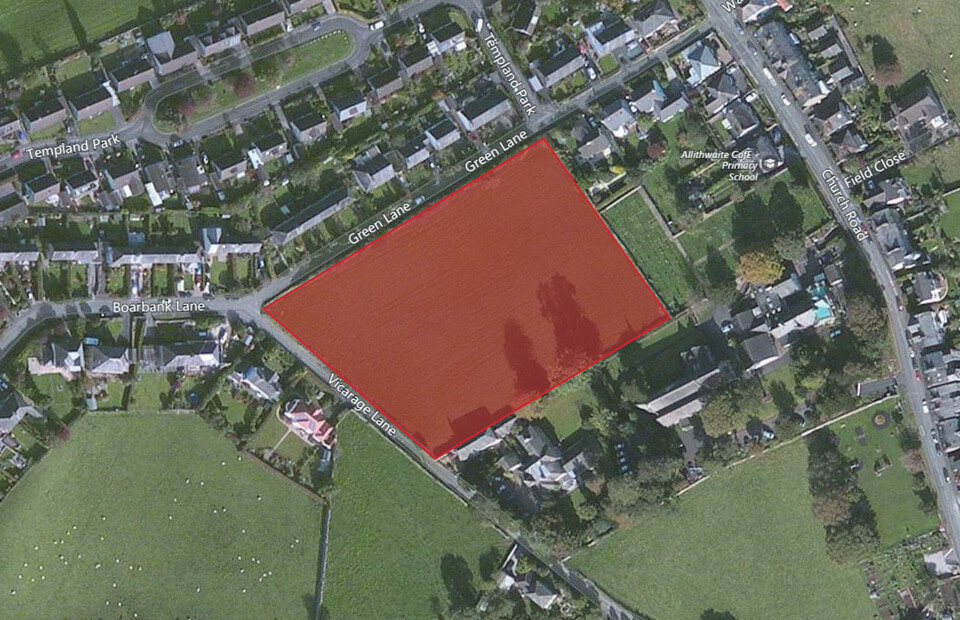 A public presentation for the land adjacent to Vicarage Lane at Allithwaite