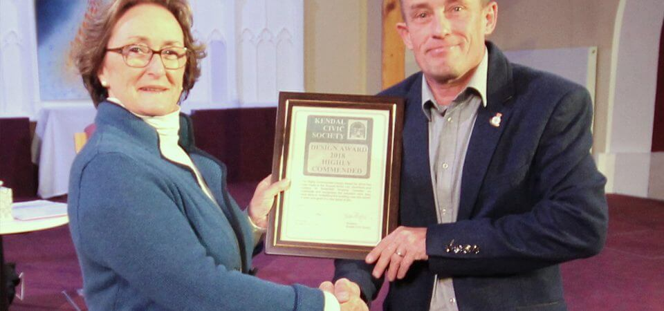 Russell Armer wins award from Kendal Civic Society